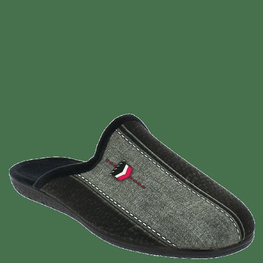 ANTRIN Ανδρική Παντόφλα 30-10502 Μαύρο
