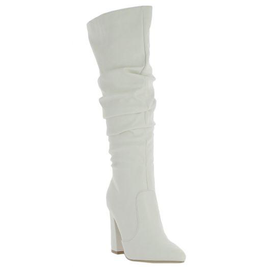 IQSHOES Γυναικεία Μπότα 18.106.1A-18672B Λευκό