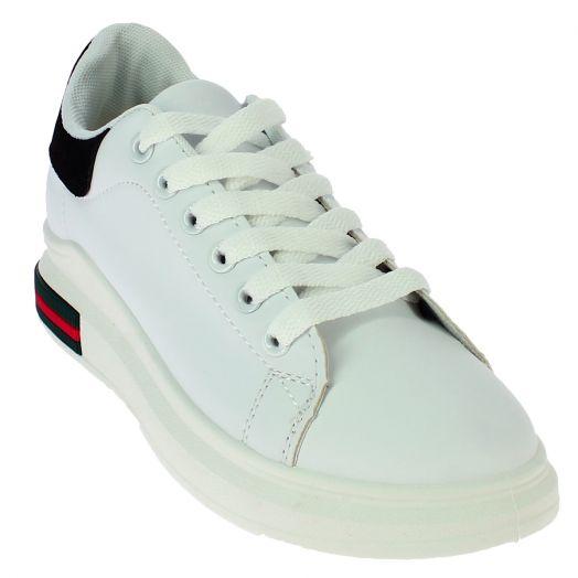 IQSHOES Γυναικείο Casual 239-1 Λευκό/Μαύρο