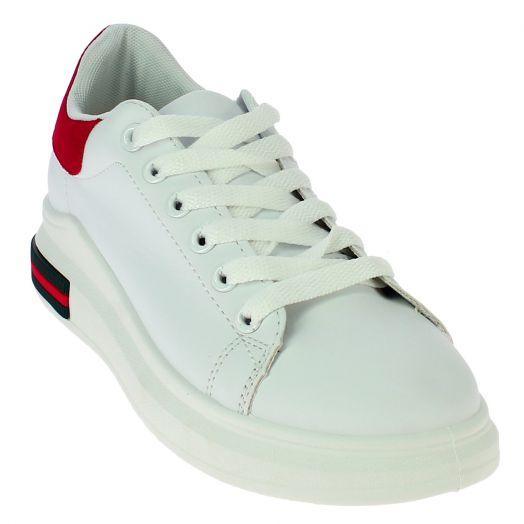 IQSHOES Γυναικείο Casual 239-1 Λευκό/Κόκκινο