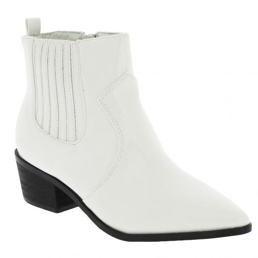 IQSHOES Γυναικείο Μποτάκι 18.106.2Z-9478 Λευκό