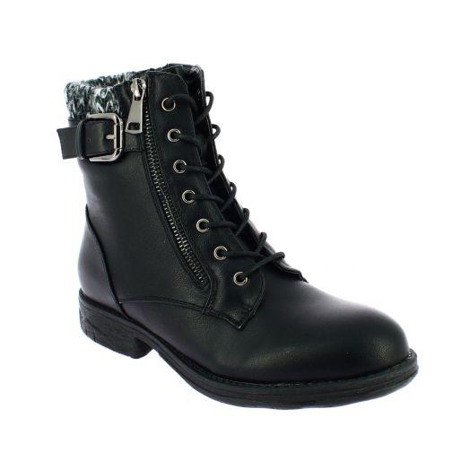 SCANDI Γυναικείο Μποτάκι 56-0395-A1 Μαύρο