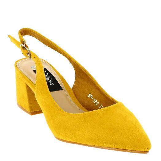 IQSHOES Γυναικεία Γόβα 99-182 Κίτρινο
