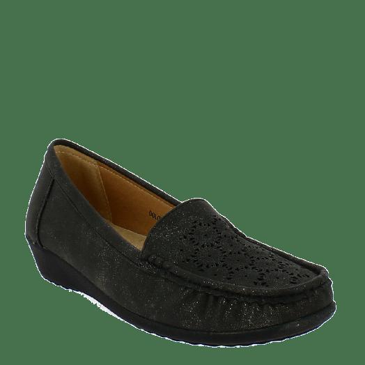 ANTRIN Γυναικείο Μοκασίνι Comfort DOLORES-130 Μαύρο