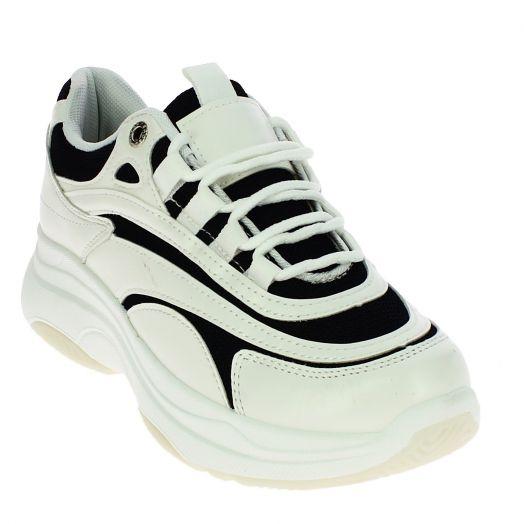 IQSHOES Γυναικείο Casual BO-15 Λευκό/Μαύρο