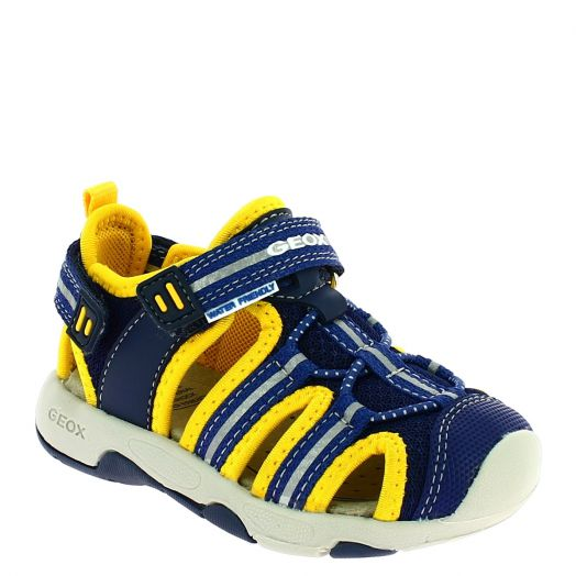 GEOX Αγορίστικο Πέδιλο B920FB 01415 C0657 Μπλε/Κίτρινο