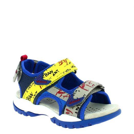 GEOX Αγορίστικο Πέδιλο J920RA 05415 C4502 Μπλε/Κίτρινο