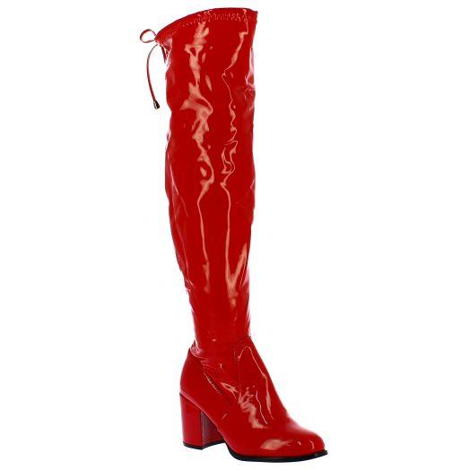 IQSHOES Γυναικεία Μπότα 18.HD01 Κόκκινο