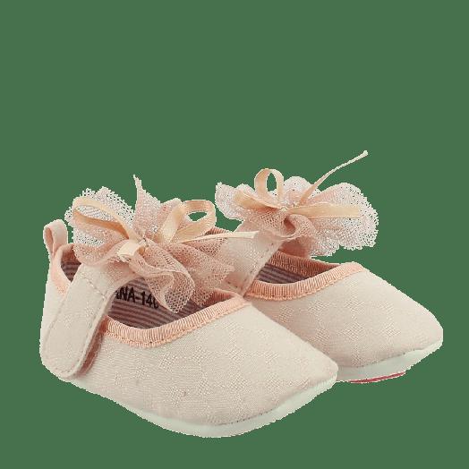 IQSHOES Μπαρέτες Νεογέννητο Κορίτσι DIANA-140 Ροζ