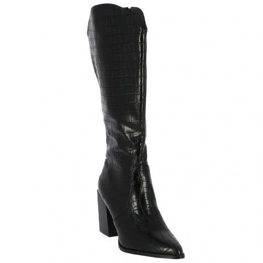 IQSHOES 106.1A-0367 Γυναικεία Μπότα Cowboy  Μαύρη