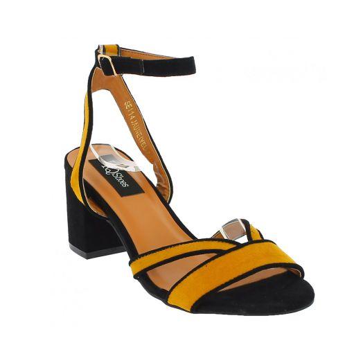 IQSHOES Γυναικείο Πέδιλο SE114 Κίτρινο