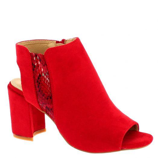 IQSHOES Γυναικεία Πέδιλα D8530 Κόκκινο