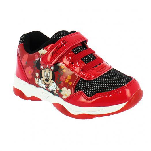 Minnie MN006935 Κοριτσίστικο Αθλητικό Με Φωτάκια Και Αυτοκόλητο Κόκκινο